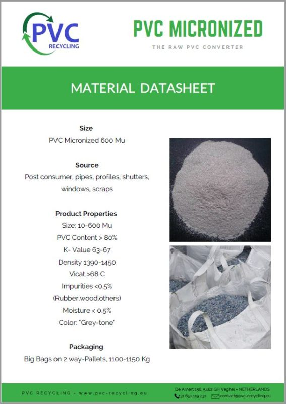 datasheet picture micronized - PVC RECYCLING